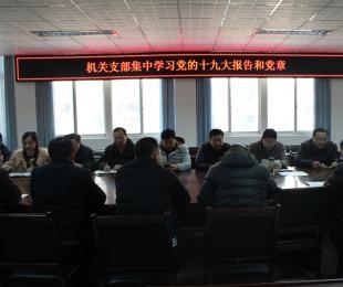蚌埠铁中各支部集中学习党的十九大报告和党章